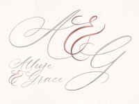 Allure & Grace. Handwritten font