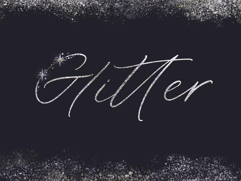 Glitter Font by Anna Markovets on Dribbble