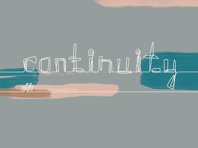Continuity. One Line Font branding continuous line one line alphabet handwritten font font logotype logo