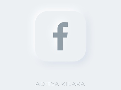 Neumorphism - Facebook design illustration neumorphic adobe adityakilara branding style logo facebook neumorphism