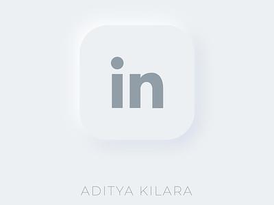 Neumorphism - Linkedin dribbble vector illustration button logo adityakilara branding design linkedin neumorphism