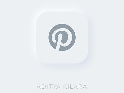 Neumorphism - Pinterest illustrator neumorphism vector adityakilara dribbble branding design illustration