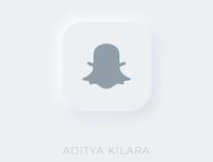 Neumorphism - Snapchat