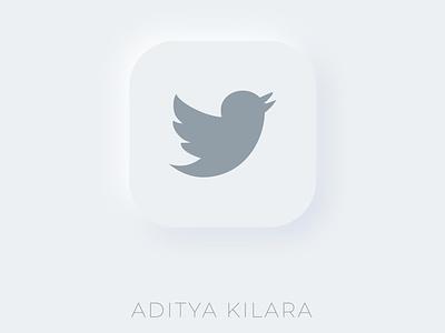 Neumorphism - Twitter icon dribbble illustrator neumorphism adityakilara branding logo vector design illustration