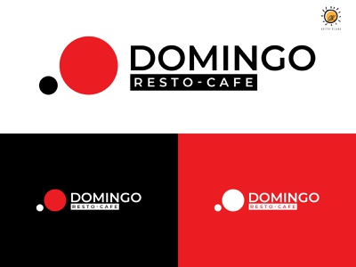 Domingo Resto Cafe typography illustrator adityakilara dribbble icon vector branding logo design illustration