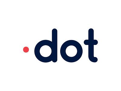 Dot icon branding vector typography logo dribble