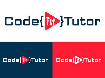 CodeInTutor vector minimal website flat web app ux design icon ui branding illustration logo code