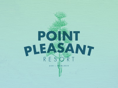 Point Pleasant Resort (reject) illustration hotels logotype hotel logo branding