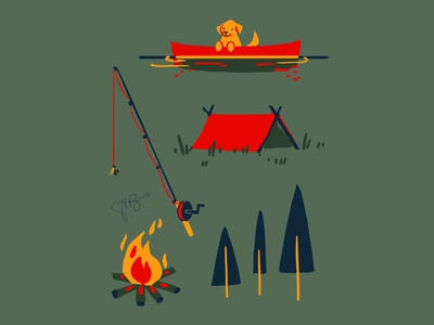 Camping Pattern Components