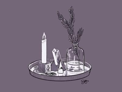 A Minimal Modern Witch's Vanity