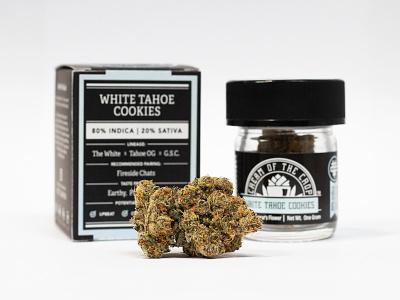COTC™ Packaging: White Tahoe Cookies Gram box design box gram cream of the crop cotc california product photography product marijuana cannabis packaging