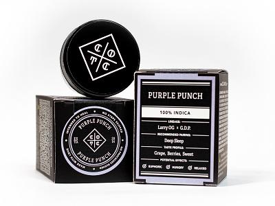 COTC™ Packaging: Purple Punch Gram box design box gram marijuana weed cannabis california cream of the crop cotc packagingdesign packaging