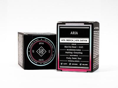 COTC™ Packaging: Aria Gram box art typography cbd cannabis packaging better than good packagingdesign gram product photography box design weed packaging box marijuana california cream of the crop cotc cannabis design
