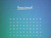 Tense iconset full preview