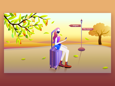 waiting illustration