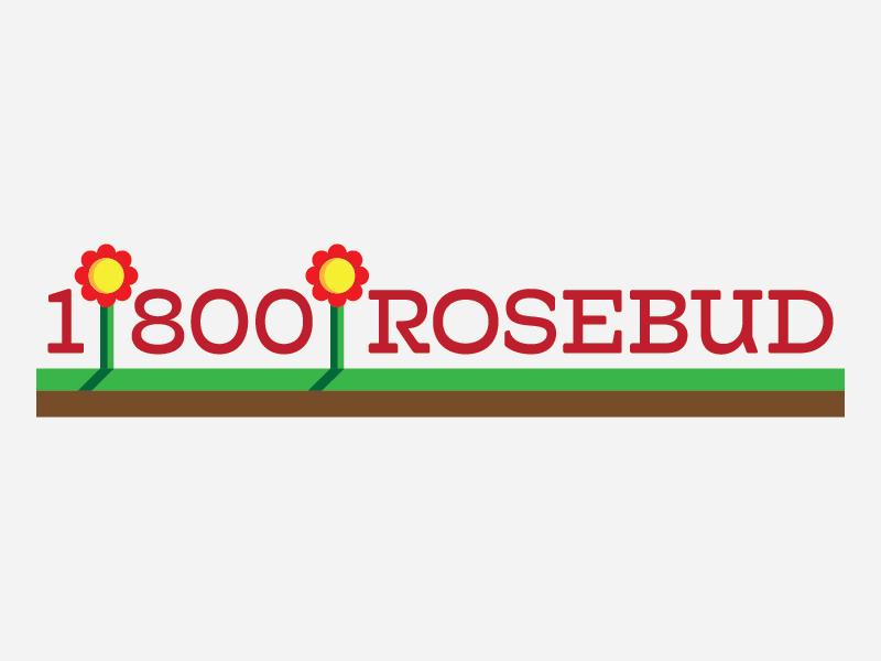1-800-Rosebud logo design thirty logo challenge thirty logos wordmark logomark marketing roses flowers thirtylogos logos logo
