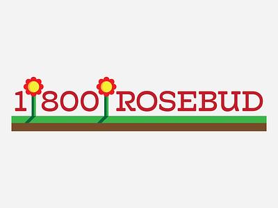 1-800-Rosebud logo design thirty logo challenge thirty logos wordmark logomark marketing roses flowers thirtylogos logos logo