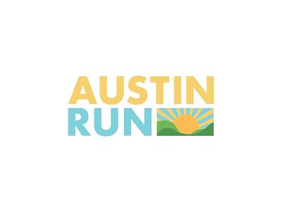 Austin Run icon sunset running run logos logo challenge thirty logos logo design logo