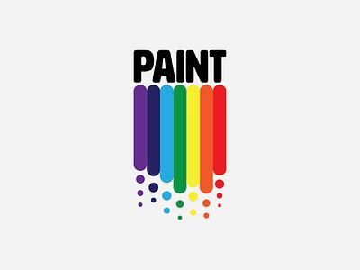 Paint challenge typography type thirtylogos rainbow paint icon thirty logo challenge logos thirty logos logo design logo