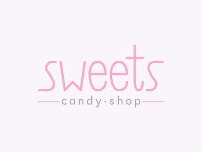 Sweets candy pink challenge typography type thirty logo challenge thirty logos logos logo design logo