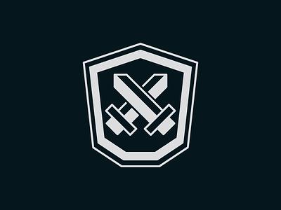 Sword & Shield icon design shield sword design challenge icon thirty logo challenge thirty logos logos logo design logo