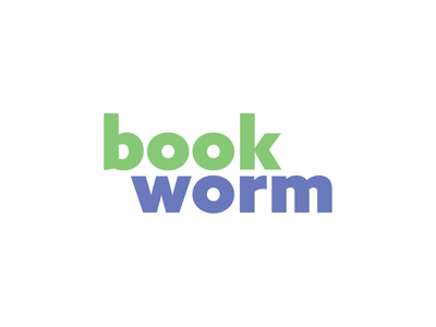 BookWorm book bookworm books typography type thirty logo challenge thirty logos logos logo design logo
