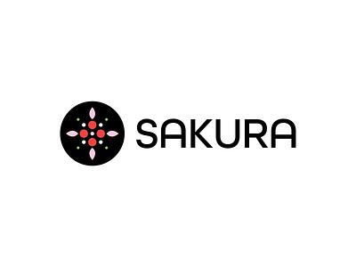 Sakura white black green pink red floral flower icon design design typography challenge icon thirty logo challenge thirty logos logos logo design logo