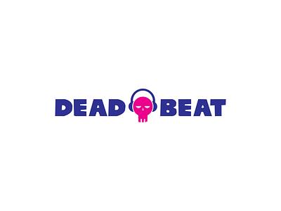 Deadbeat drums bass house edm music blue logomark pink thirtylogos icon design challenge design typography type icon thirty logo challenge thirty logos logo design logos logo