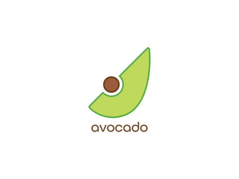 Avocado avocado brown vector illustration green icon design design type icon thirty logo challenge thirty logos logo design logos logo