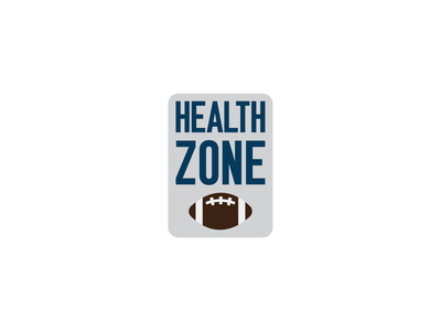 Health Zone brown grey navy myfitnesspal football app fitbit nutrition health football icon design design icon thirty logo challenge thirty logos logo design logos logo