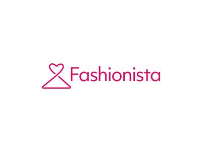 Fashionista hanger heart fuchsia dress app icon app fashion pink icon design design icon thirty logo challenge thirty logos logo design logos logo
