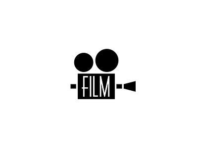 FILM grayscale white black nonprofit movies camera film icon design design icon thirty logo challenge thirty logos logo design logos logo