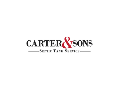 Carter & Sons bodoni serif font serif work family business local business redesign rebrand septic red black and white challenge typography type design thirty logo challenge thirty logos logo design logos logo