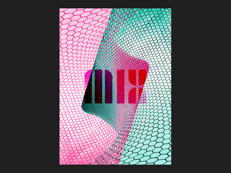 MIX graphic design design bold cyan pink neon print design print isnt dead print mix poster design posters poster blank poster