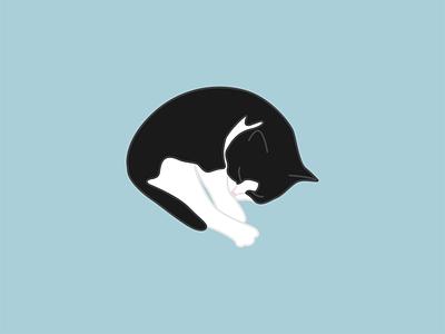 Holly Belle Sleeps digital illustration blue cat graphic design design vector illustration