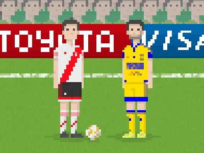 Pixel Art Footballers By Pixteca On Dribbble