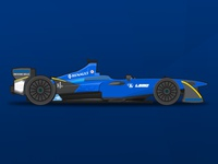 Renault e.Dams Formula E Vector