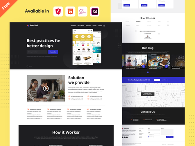Landing Page Design | Freebies web design webdesign contact us call to action landingpage adobe photoshop sass html angularjs landing design landing page concept landing page ui landing page design landing page landing bootstrap free download for free uidesign design