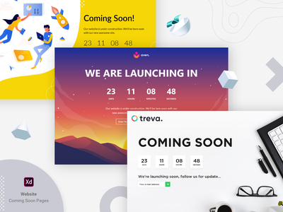 Coming Soon Web Page Design with Counter coming soon desing landing page design landing pages landing page landingpage web design webdesign coming soon template coming soon page coming soon comingsoon vector branding ui illustration download for free uiux ux design uidesign