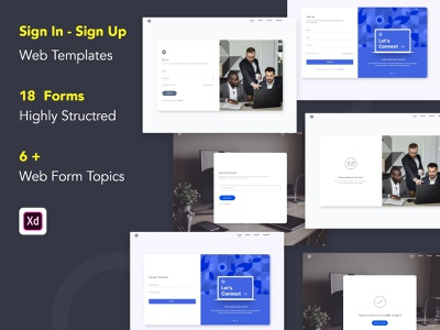 Sign In & Sign Up Web Templates webdesign web template design web design sign in screen sign up screen sign up page sign in form sign in page sign in ui sign in sign up signin signup landing page bootstrap uiux illustration ux design uidesign