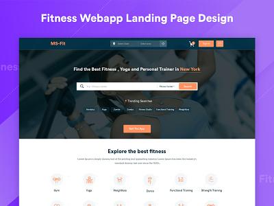 Fitness Webapp | Landing page design trend 2019 trending ui landing page sports gym design inspiration free club ux challenge ux design ux ui  ux design ui deisgn uidesign fitness club fitness app fitness
