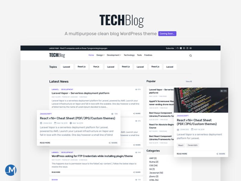 A multipurpose blog theme demo, landing page - WordPress wordpress theme ux download for free free wordpress blog blog wordpress uidesign design