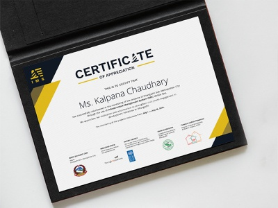 """Certificate design for IMS """"Infrastructure Management system"""" certificate design print collateral graphic design certificate print"""