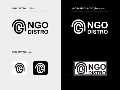 NGO Distro Logo design nepal nonprofit ngo goldenratiologo branding brand identity logo monogram logo monogram
