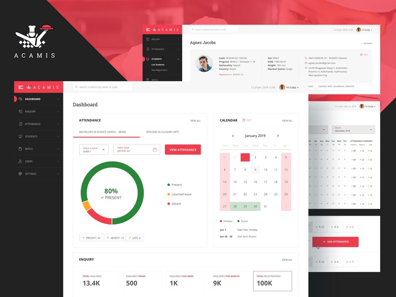 Student Management System Designs Themes Templates And Downloadable Graphic Elements On Dribbble