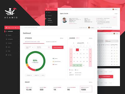 ACAMIS (Student Management System) uidesign webdesign ui student management system web application student management platform culinaryarts