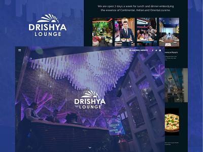 Drishya Lounge Web UI web ui dark theme website dark website lounge website ui design website design