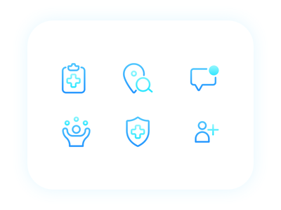 Health Pack lifestyle illustration iconography icons icon set healthcare location search notification invite excercise yoga life icon health