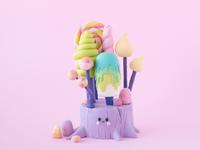 Kawaii Edible Candy Forest