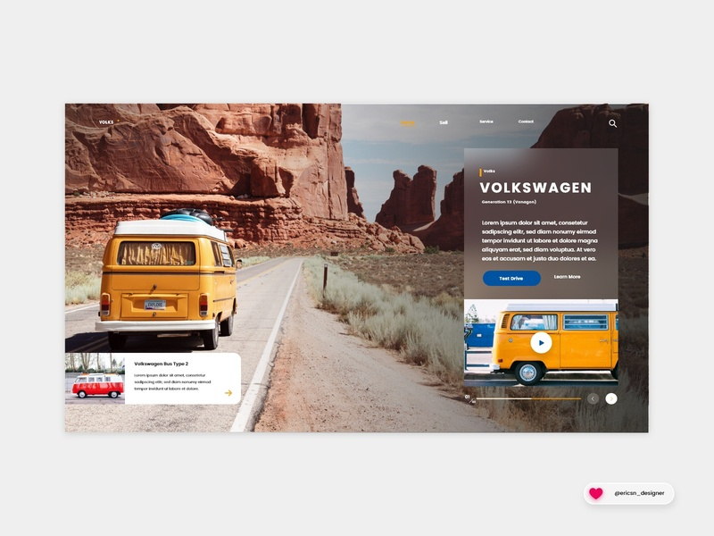 Old Town Road Mountain_Concept | Website Design color orange car website banner website concept uxdesign uidesign nature web design ui ux website landing page homepage userexperience userinterface